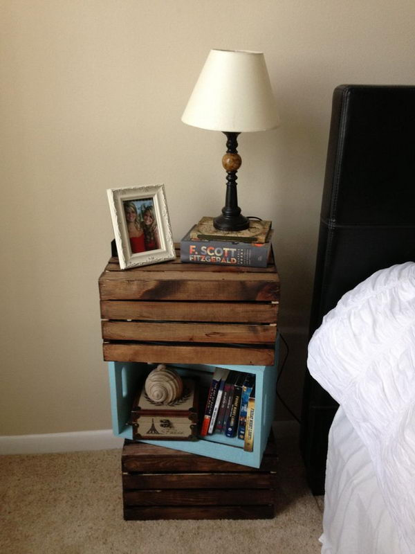 30 creative nightstand ideas for home decoration hative for Nightstand ideas