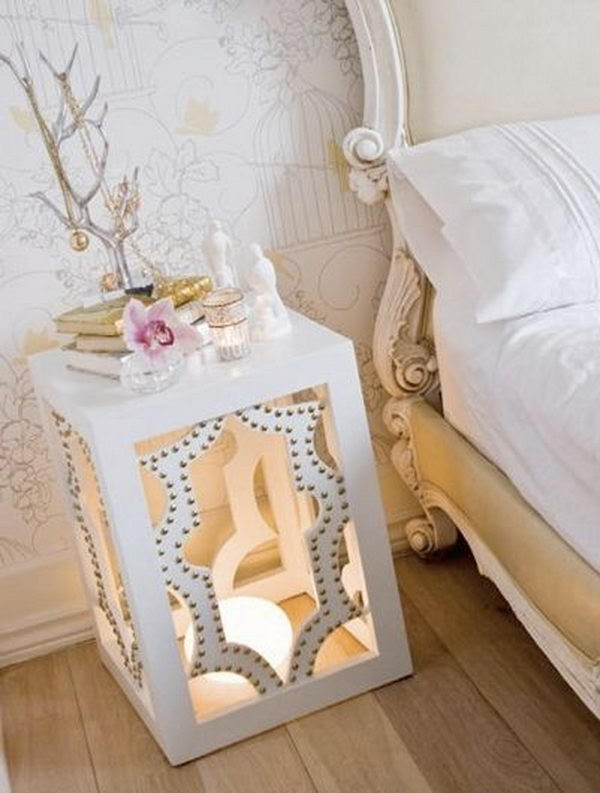 Creative Nightstand Ideas Part - 18: Creative Nightstand Which Makes Your Bedroom Looks More Interesting.