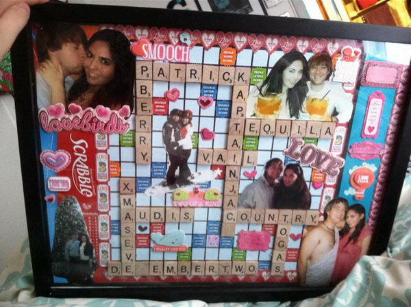 Romantic Scrapbook Gift Idea for Boyfriend.