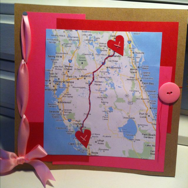 A cute idea for long distance boyfriend.