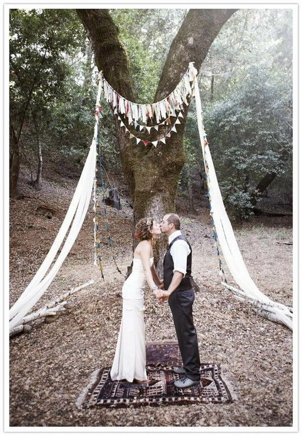 Non Floral Wedding Arch,