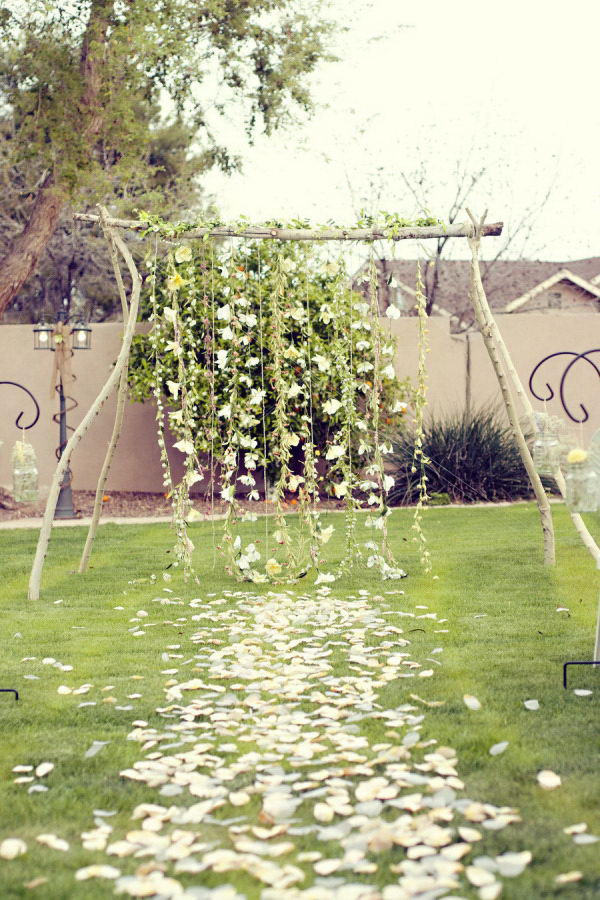 Homemade Wedding Arch,