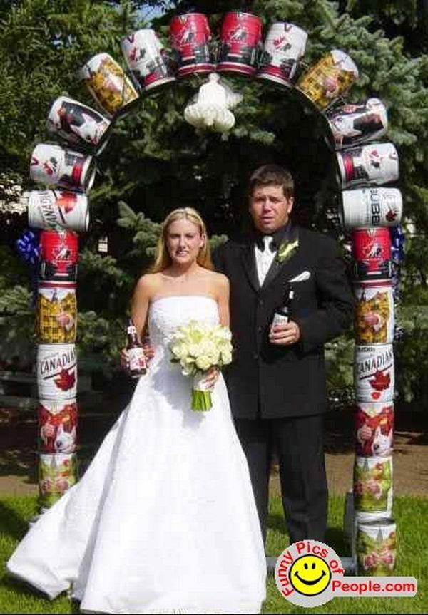 Beer Can Wedding Arch,