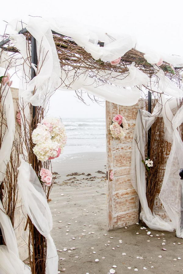 Romantic Beach Wedding Arch,