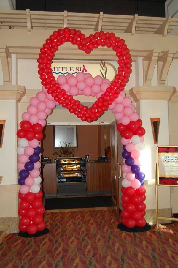 Heart Wedding Balloon Arch,