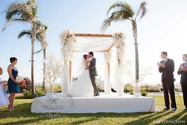Tropical Wedding Chuppah.
