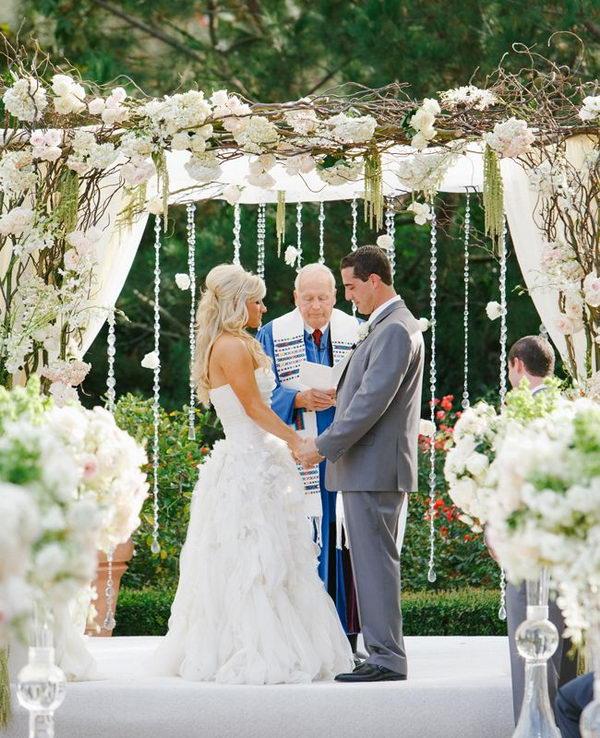 Romantic All White Wedding