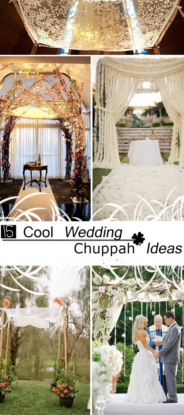 15 Cool Wedding Chuppah Ideas - Hative