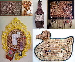 wine cork board collage