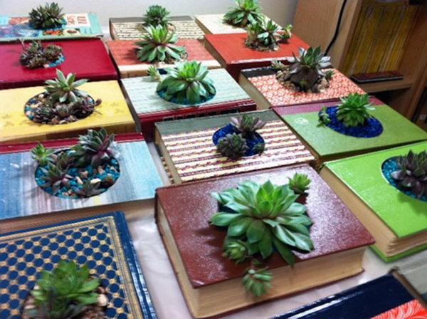 DIY Book Planters.
