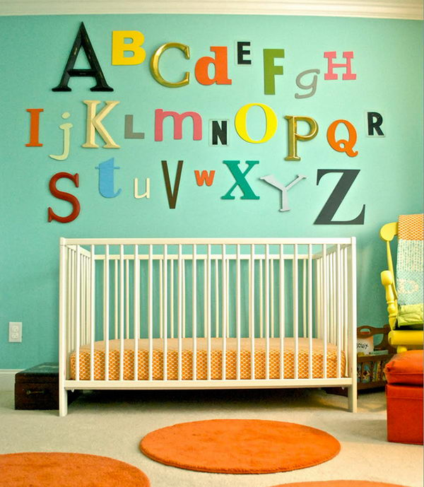 13 Wall Designs Decor Ideas For Nursery: 20 Cute Nursery Decorating Ideas
