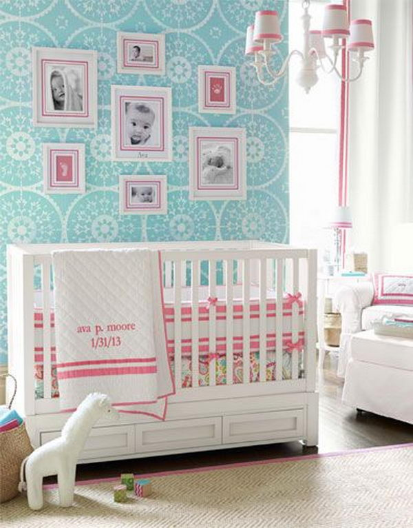 20 cute nursery decorating ideas hative - Cute toddler girl room ideas ...
