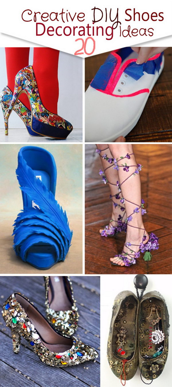 Creative DIY Shoes Decorating Ideas!