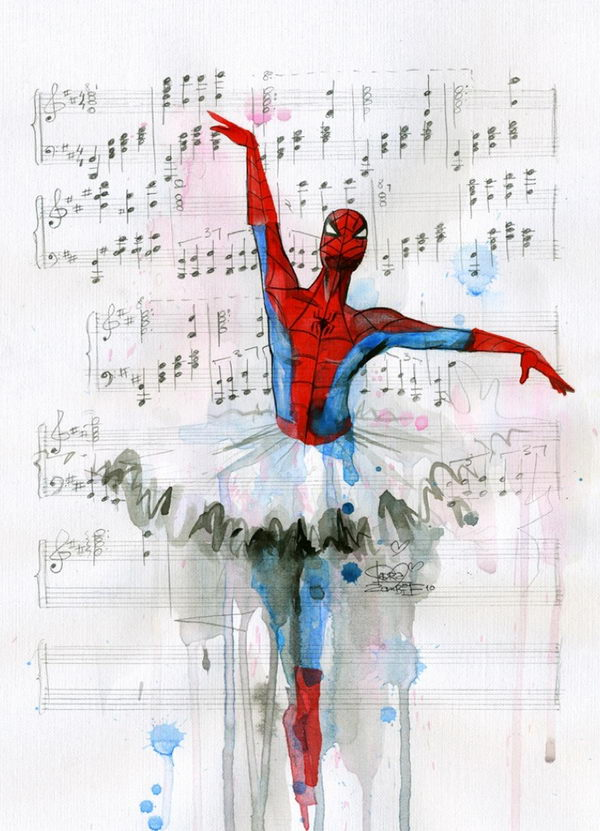 20 cool spiderman drawings hative for Creative paintings pictures