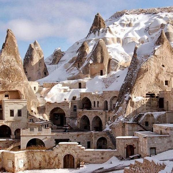 Fairy Chimney Hotel in Turkey.