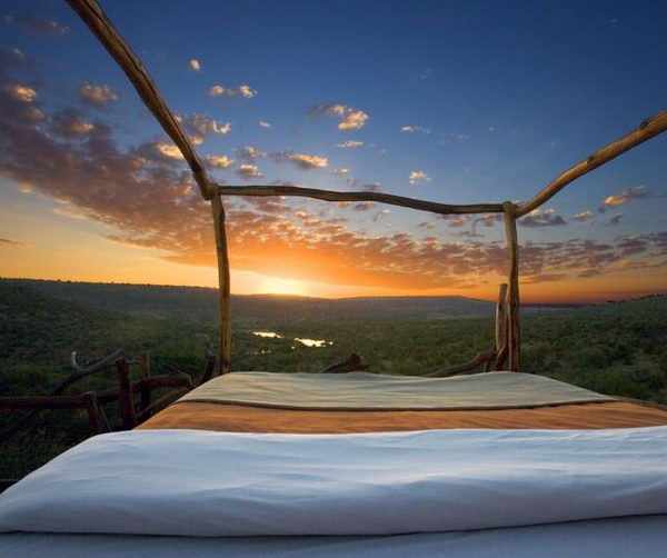 Loisaba Wilderness Resort, Kenya. It is really a unique way to sleep with stars.