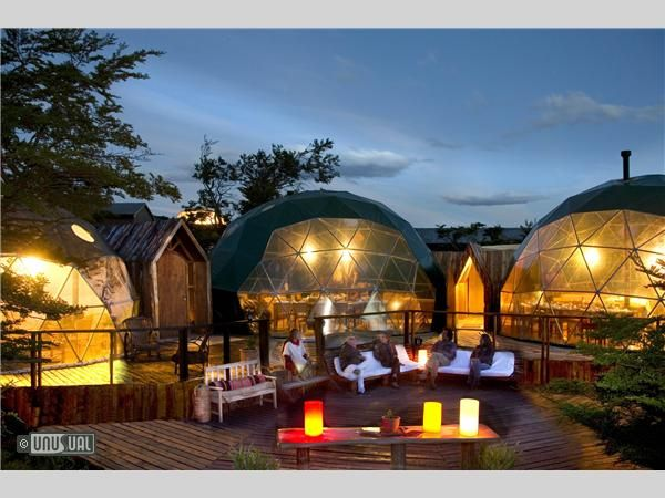 Eco Camp Patagonia, Chile. Sleep in sympathy with nature. This is Patagonia′s first fully sustainable accommodation and the world's first Geodesic hotel.