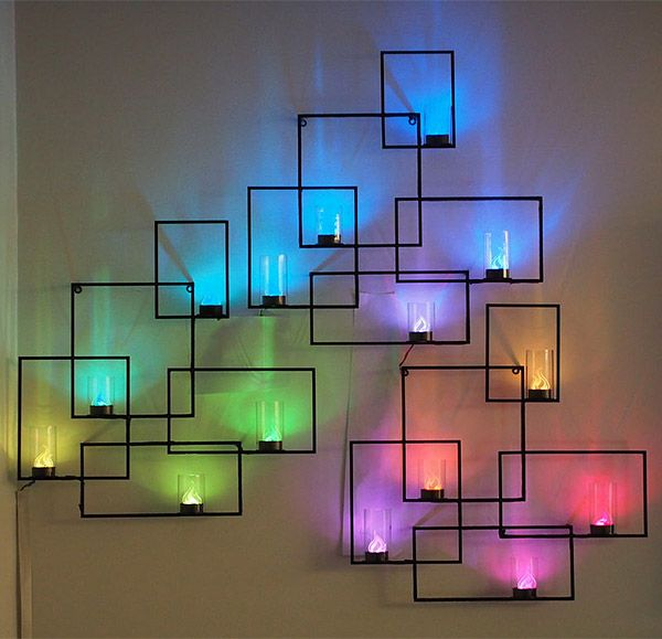 10 creative led lights decorating ideas hative Creative wall hangings