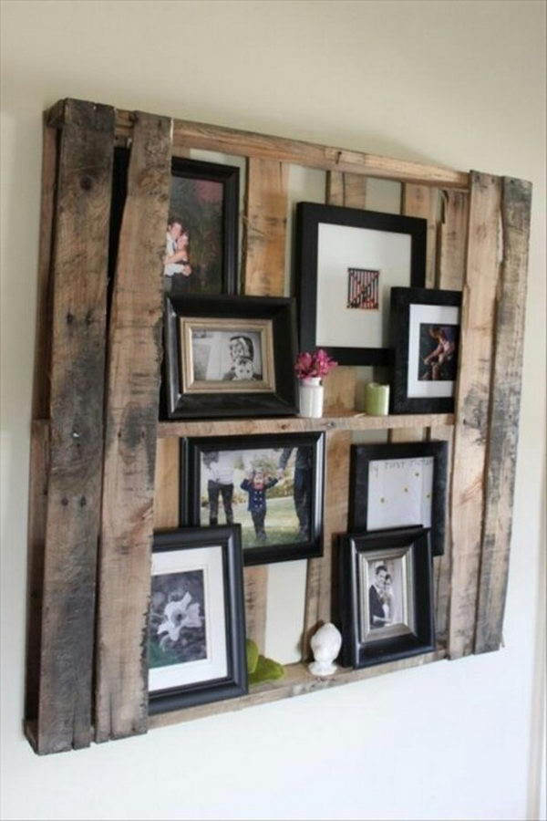 DIY Wooden Photo Wall Display.