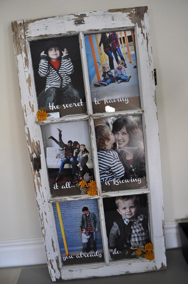 20 creative photo frame display ideas hative for Vintage picture frame ideas