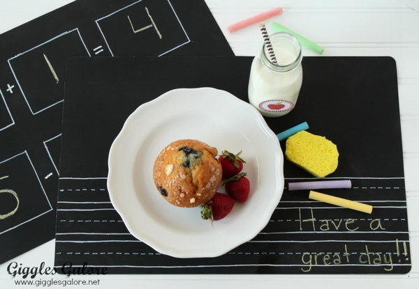 DIY Chalkboard Placemats.