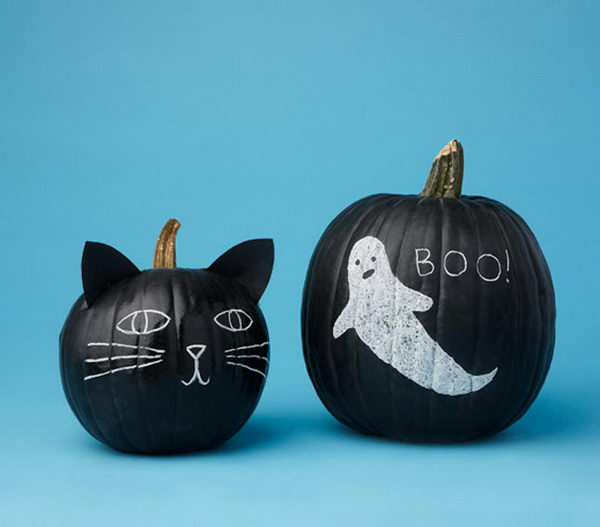 20 cool chalkboard paint ideas hative Easy pumpkin painting patterns