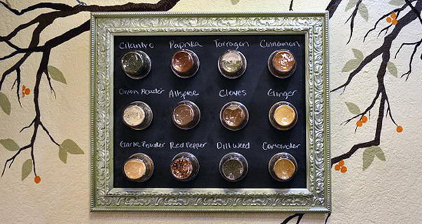 Magnetic Chalkboard Spice Rack.
