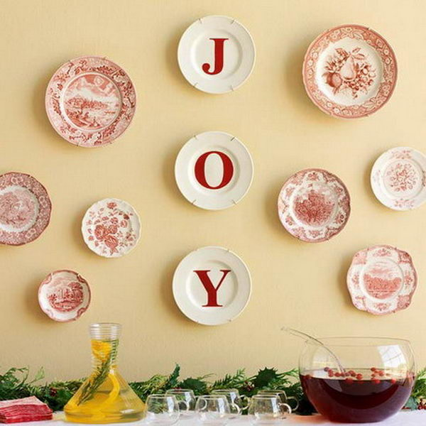 Cool Christmas JOY signs. They will add personality to your Christmas space and make your room stand out.