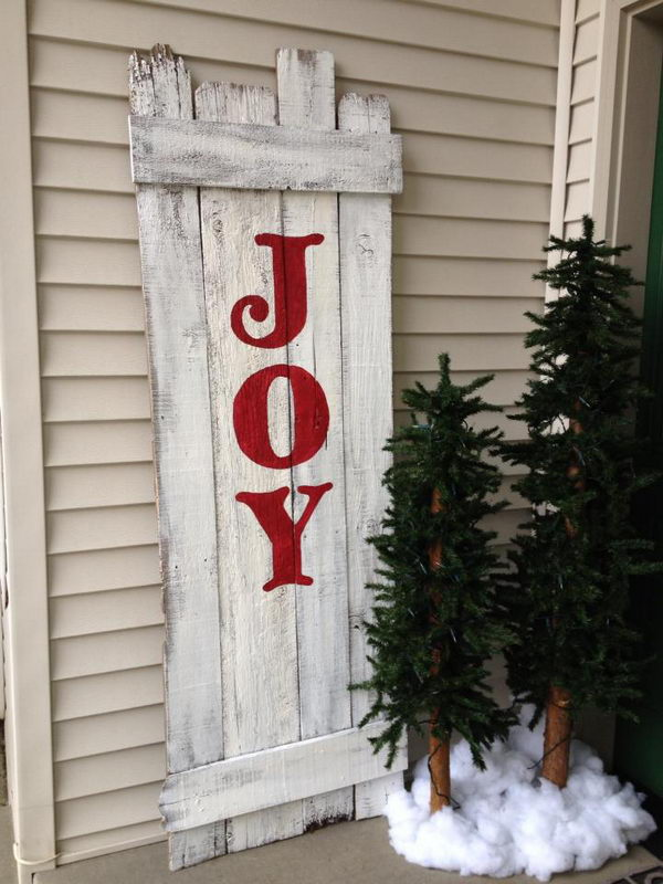 10  Cool Christmas Joy Sign Ideas  U0026 Tutorials