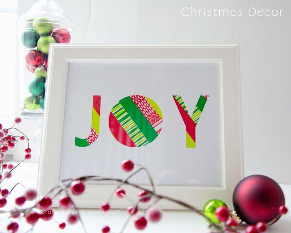 10+ Cool Christmas Joy Sign Ideas & Tutorials - Hative