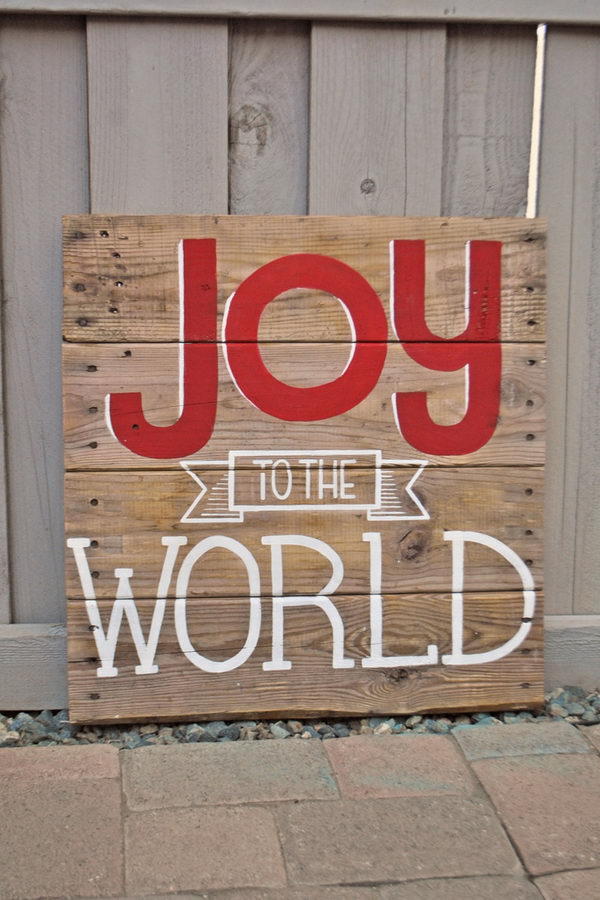 10 Cool Christmas Joy Sign Ideas Amp Tutorials Hative