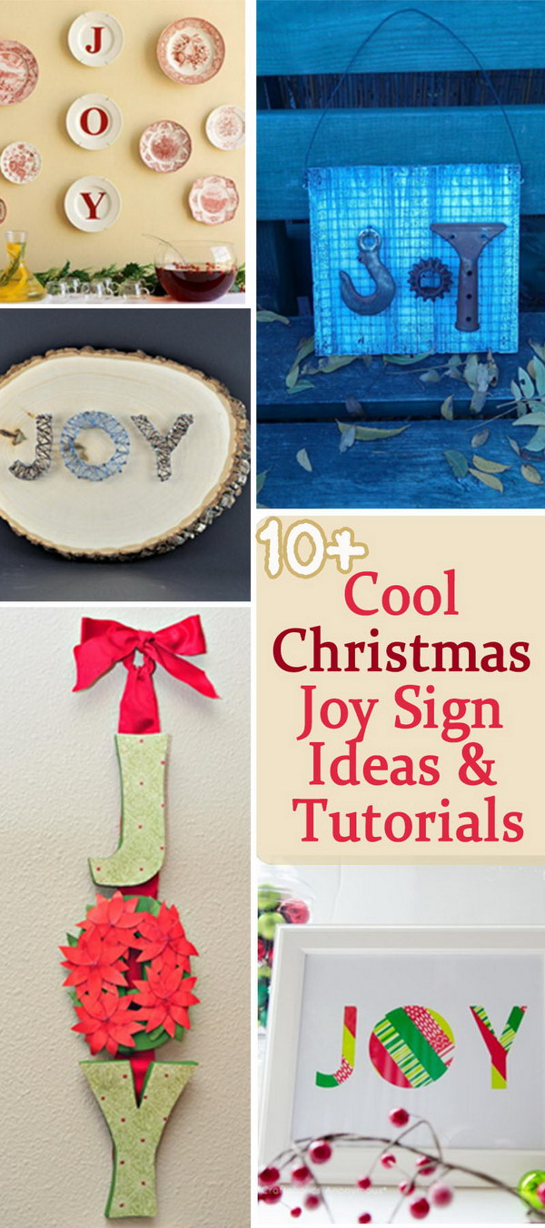 Cool Christmas Joy Sign Ideas & Tutorials!