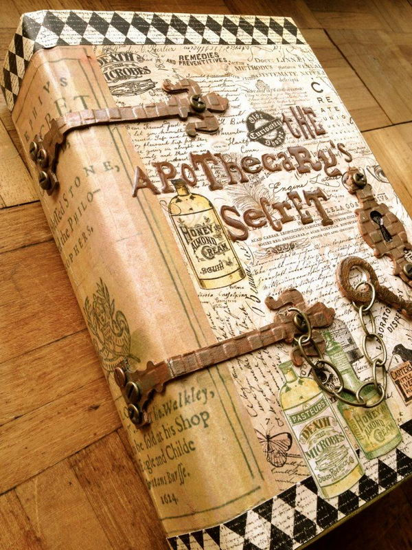 Journal From Old Book Covers ~ Art journals on pinterest journaling and