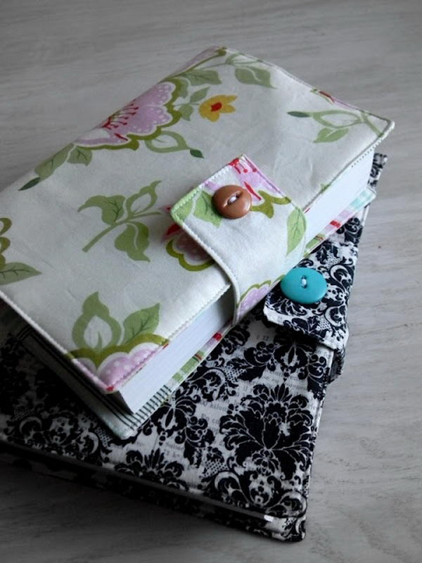 Make A Fabric Book Cover : Creative diy book cover ideas hative