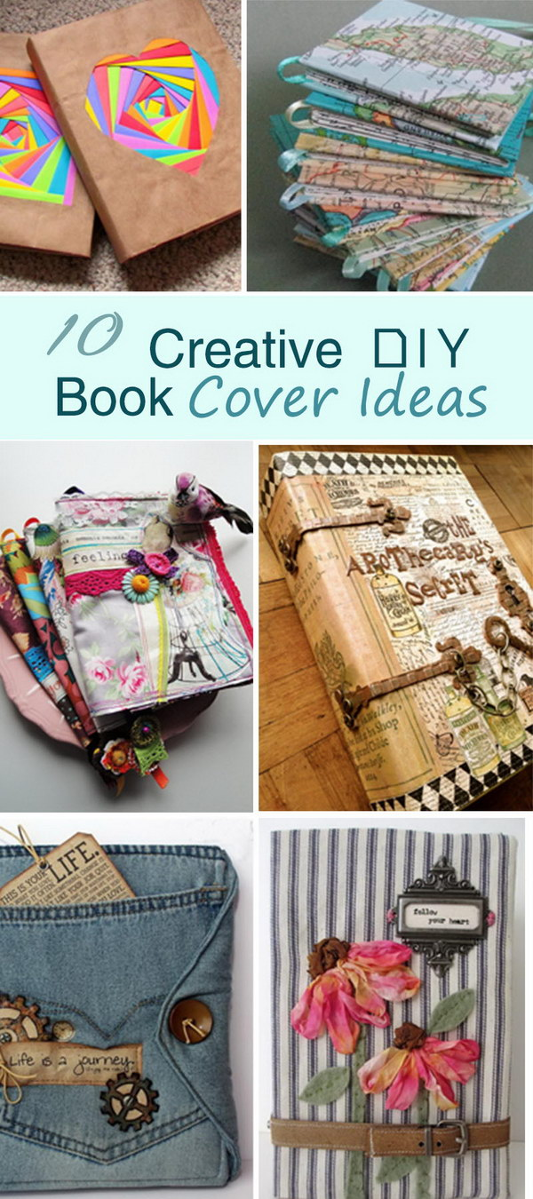 Cool Textbook Cover Ideas : Creative diy book cover ideas hative