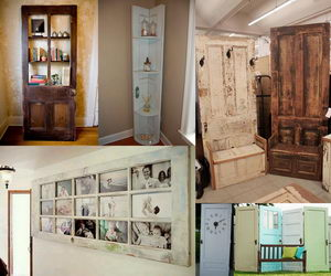 door repurpose ideas collage