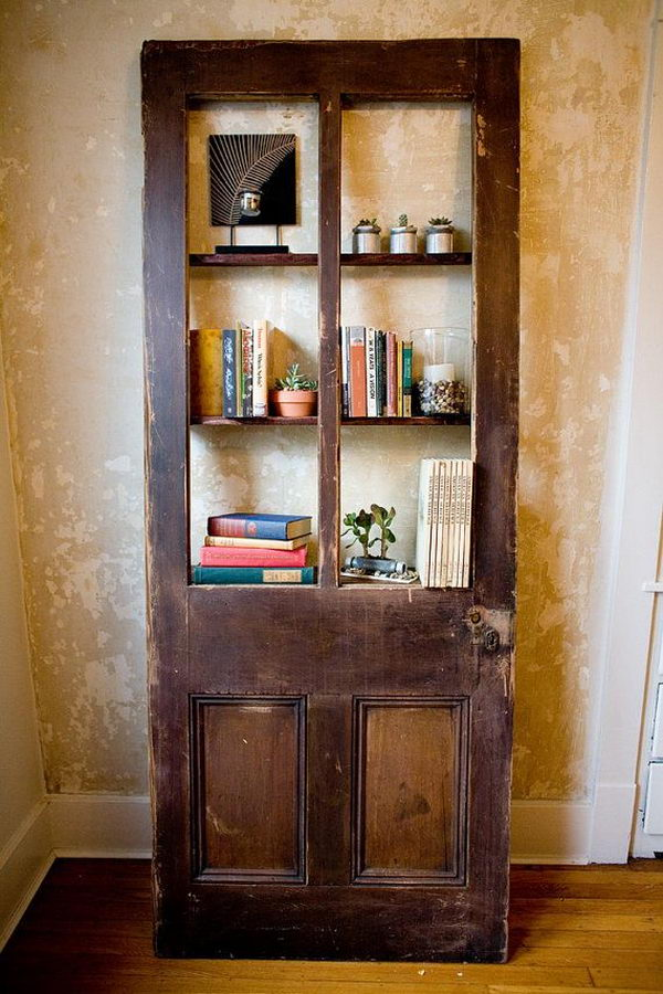 Simple  Door Bookcases On Pinterest  Old Doors Bookcases And Salvaged Doors