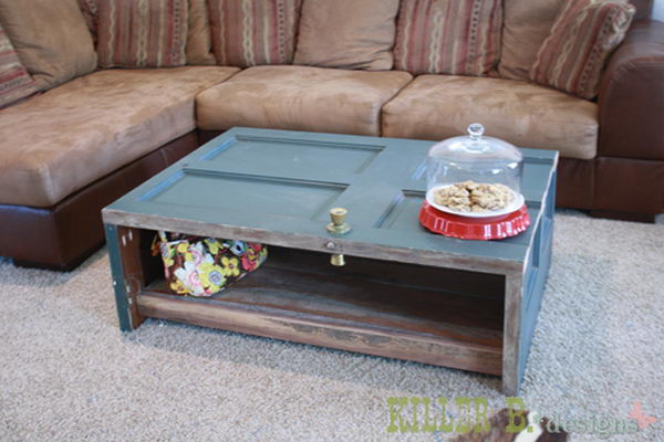 Coffee Table Made from Door.