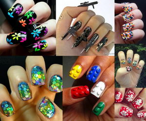 cool-3d-nail-art-collage