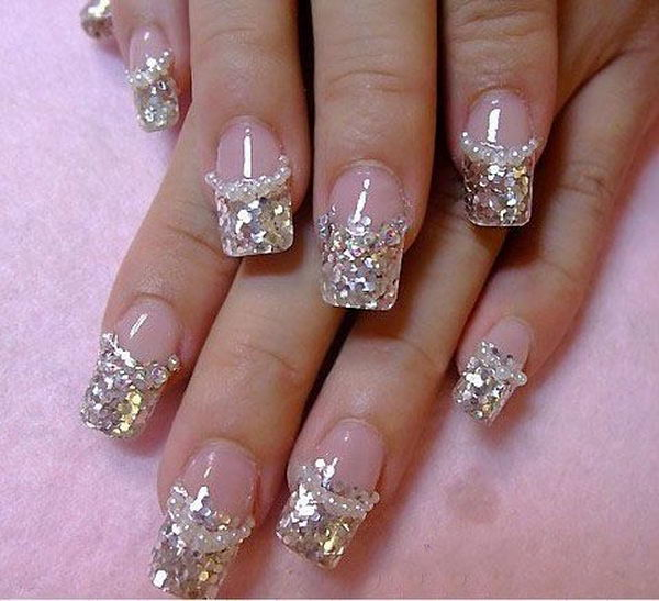 Glitter 3D Diamonds Nail Design Art Is A Technique For Decorating Nails That