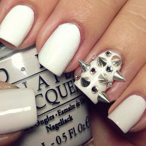 3D Spiked Nails, 3D nail art is a technique for decorating nails that creates three dimensional designs.