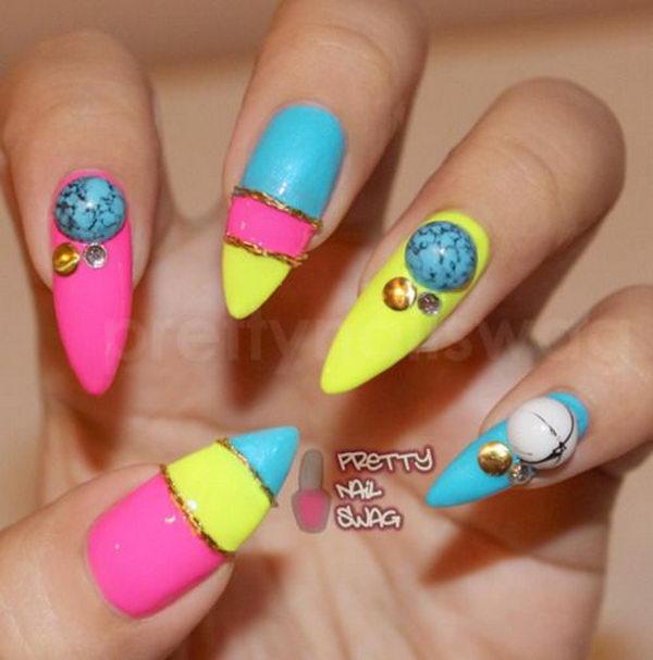35 Cool 3D Nail Art - Hative