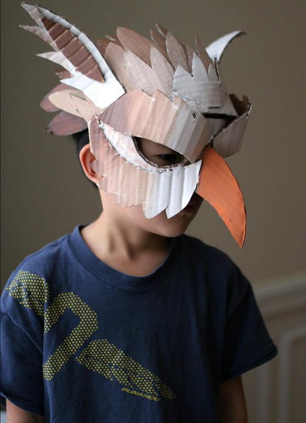 20 Diy Halloween Mask Crafts For Kids Hative