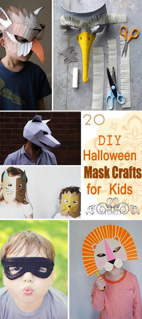 DIY Halloween Mask Crafts for Kids!