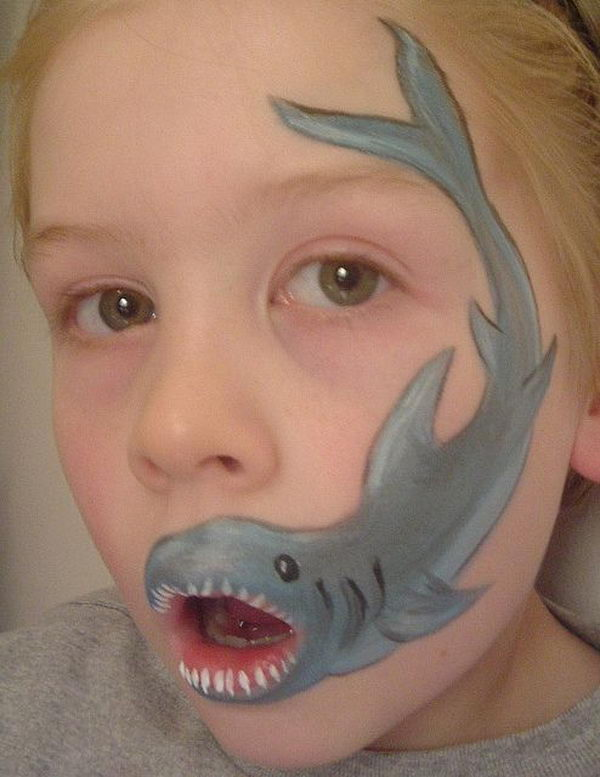 Face Painting Shark | www.imgkid.com - The Image Kid Has It!