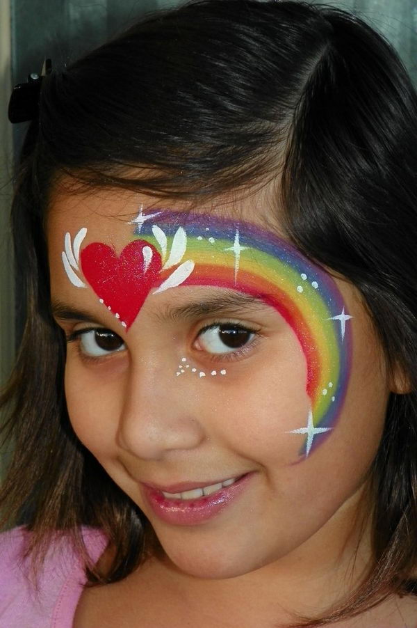 7ffb9d8c9 Cool Face Painting Ideas For Kids, which transform the faces of little ones