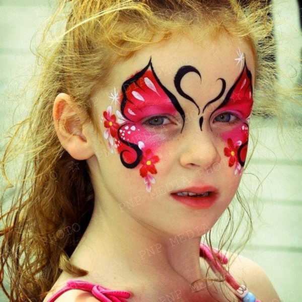 Gallery For gt Face Painting Ideas Girls Butterfly