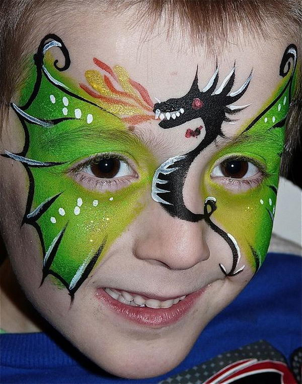 Gallery For gt Face Paint Dragon