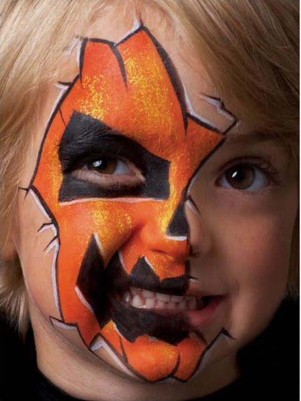 Halloween Face Painting. Cool Face Painting Ideas For Kids, which transform the faces of little ones without requiring professional quality painting skills.