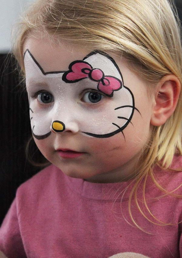 Hello Kitty Face Painting. Cool Face Painting Ideas For Kids, which ...